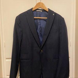 Navy striped Zara blazer